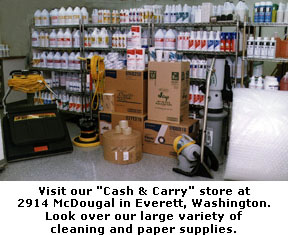 "Visit our ""Cash & Carry"" store at 2914 McDougal in Everett, Washington."